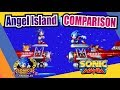 Sonic Mania And Sonic 3 Knuckles Angel Island Side By Side Comparison mp3