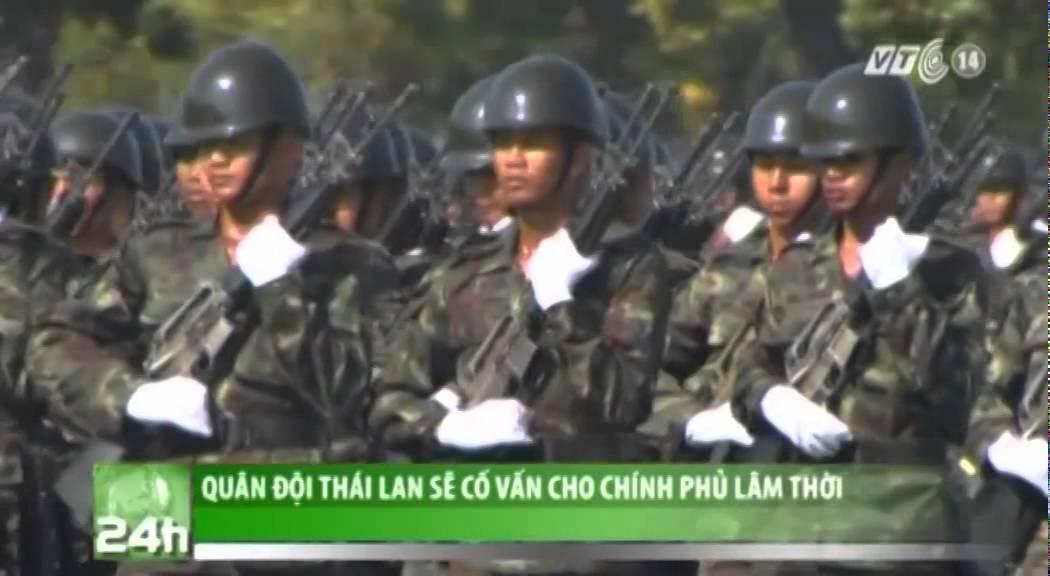 VTC14_Quân đội Thái Lan sẽ cố vấn cho chính phủ lâm thời