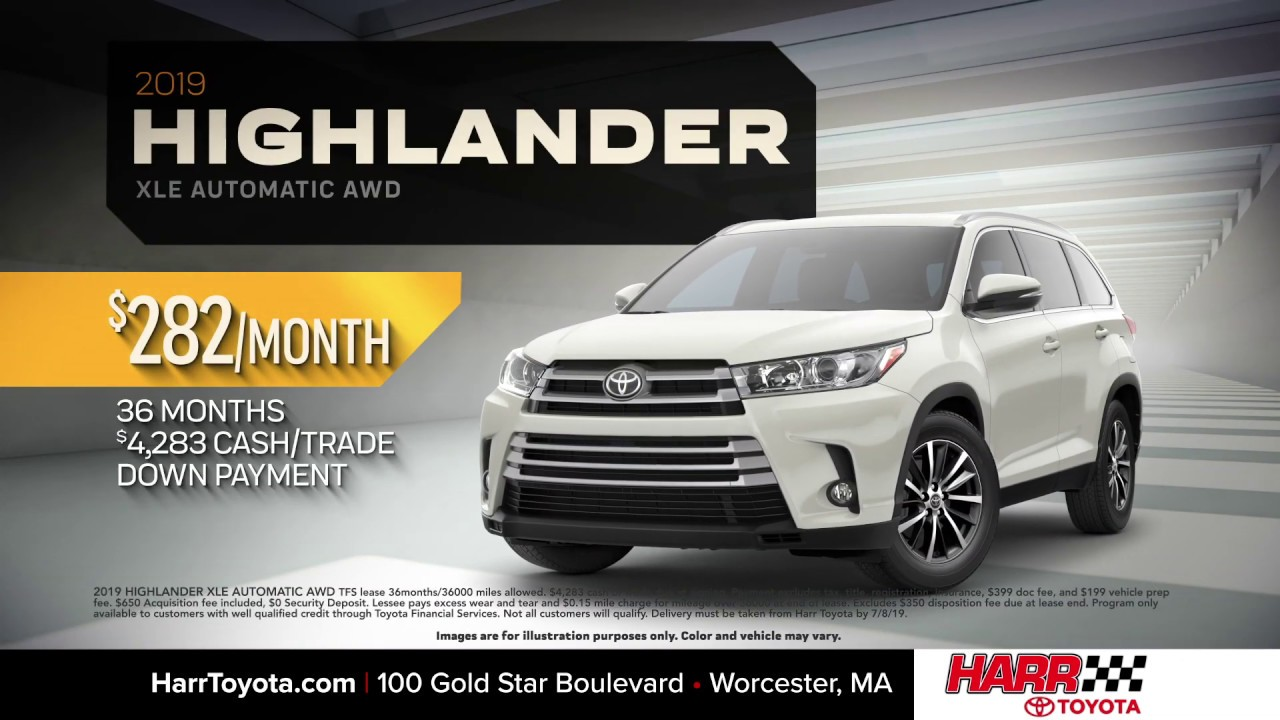 Toyota Highlander Lease >> 2019 Toyota Highlander Lease June 2019