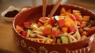 Mexican Fruit Salad Recipe || KIN EATS