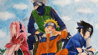 Speed Drawing Team 7 - Sakura, Naruto, Sasuke and Kakashi (Naruto ナルト)