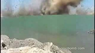 underwater explosion causes mini tsunami