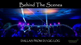 Dallas Prom DJ Gig Log Behind the Scenes RCF Speakers, Stage lighting