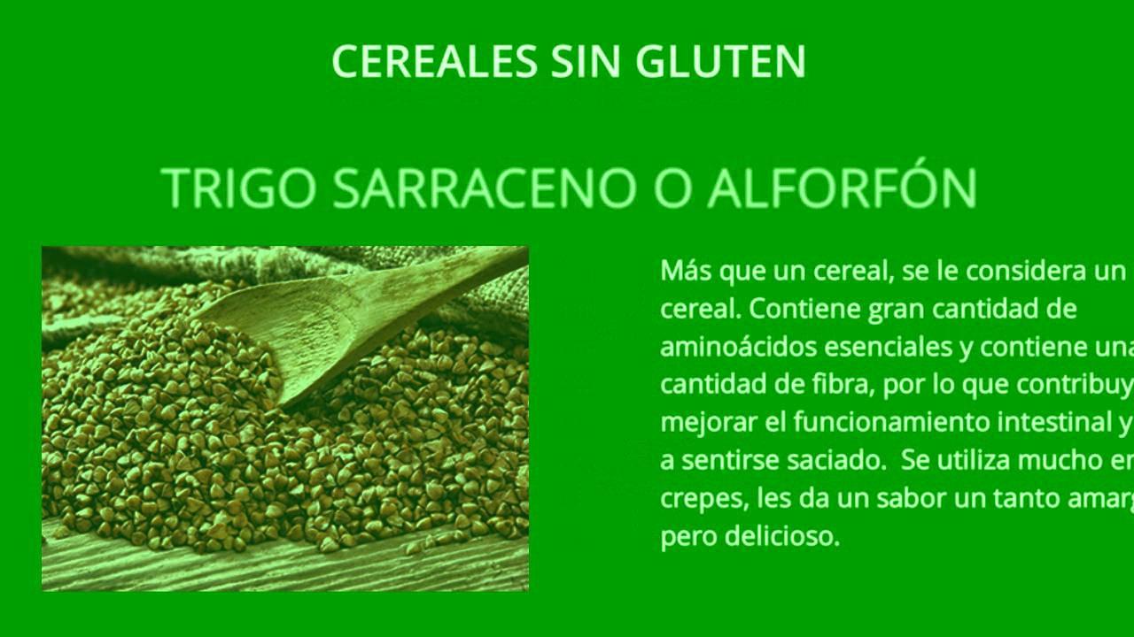 lista de alimentos con gluten