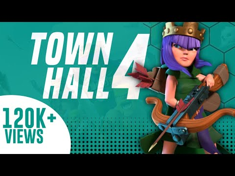 Town Hall 4 Defence Base (CoC TH4) || Best Anti 2 stars Base || Clash OF Clans ||