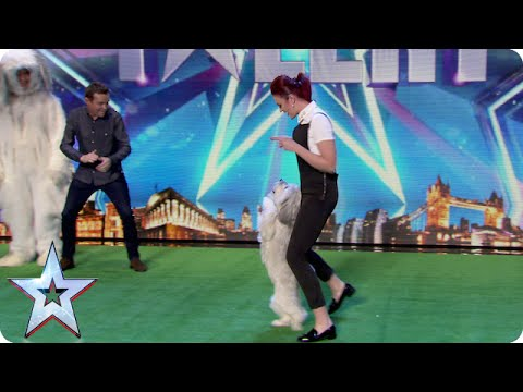David Vs Ashley and Pudsey: let's dance! | Britain's Got Talent 2015