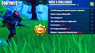 *ALL* WEEK 9 CHALLENGES QUICK & EASY in Fortnite Battle Royale - FREE TIERS for WEEK 9 in Fortnite!