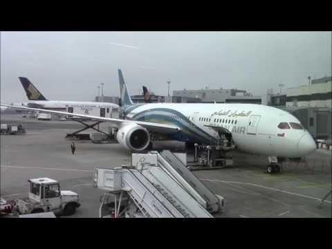 OMAN AIR Boeing 787-9 Frankfurt - Muscat [Full Flight]