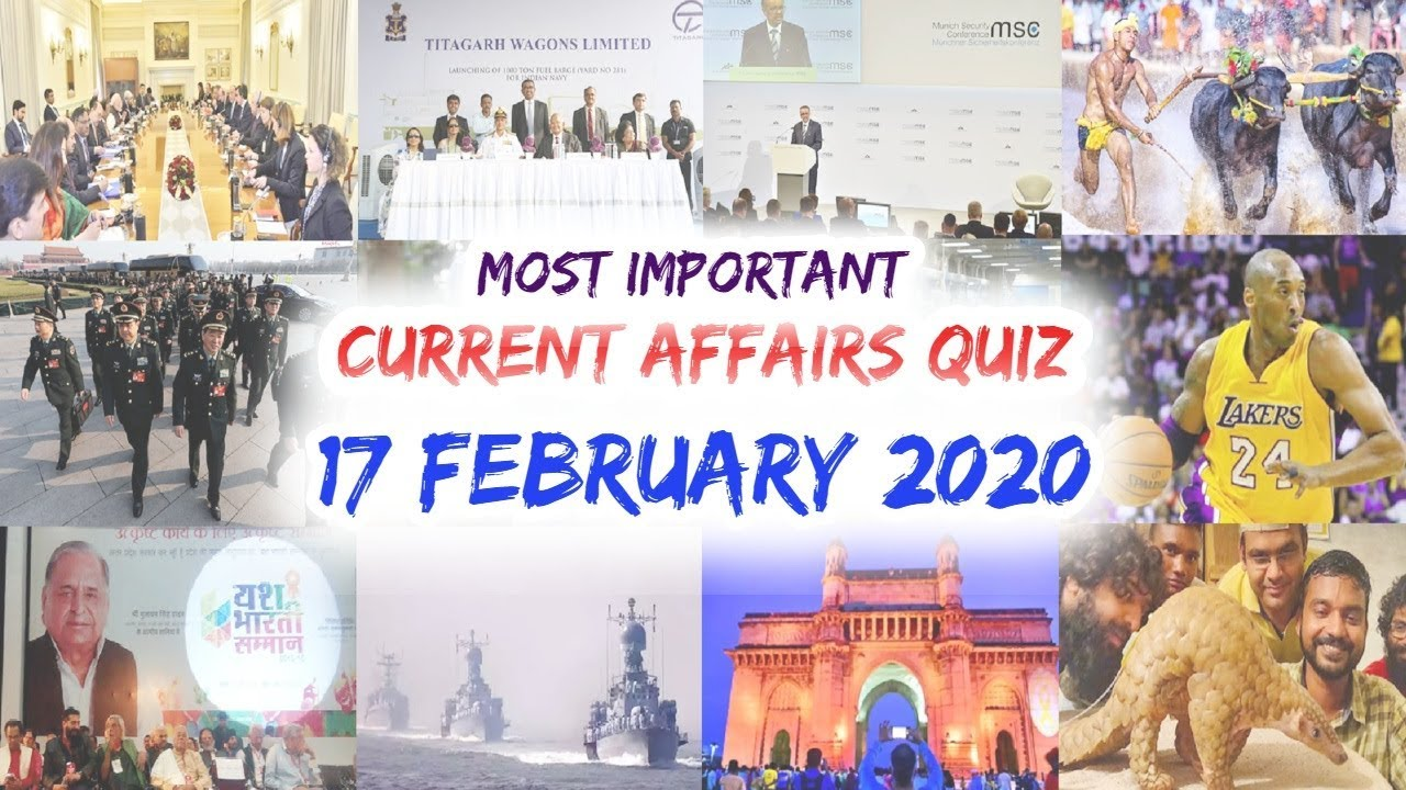 Download Daily Current Affairs February 17 , 2020 : English MCQ   GKToday