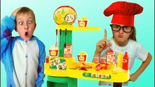 Tawaki Kids Pretend playing with toys cafe.Video for kids.
