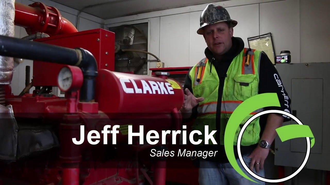 Green Industrial - ENCLOSED SKID MOUNTED CLARK PERKINS DETROIT DIESEL FIRE  PUMP ENGINE