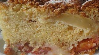 Сливово яблочный пирог со штрейзелем  Немецкая кухня