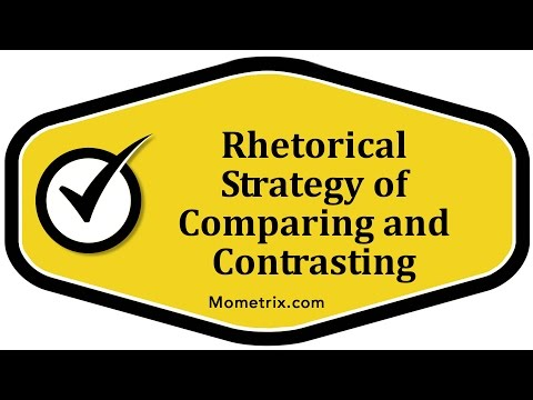 Rhetorical Strategy of Comparing and Contrasting