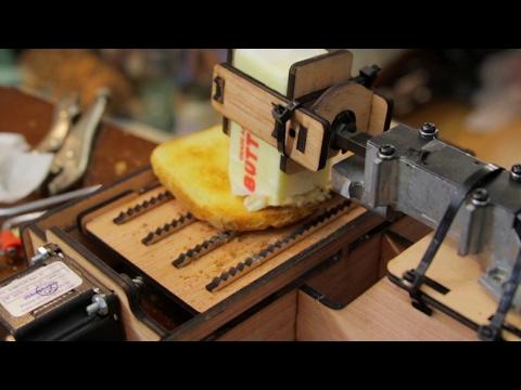 Dangerous Toast Buttering Robot