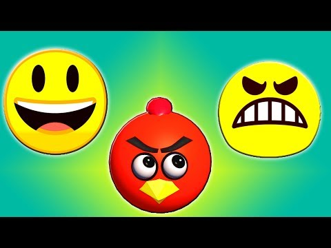 EMOJIs & ANGRY BIRDS character mashups ♫  short 3D animation  ☺ FunVideoTV - Style ;-))