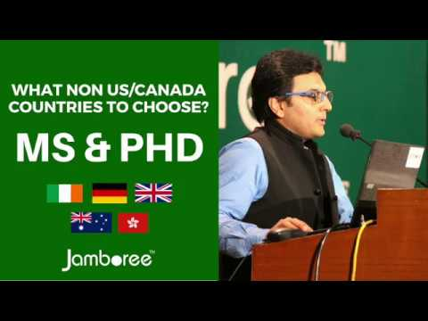 Popular Countries for MS & PhD Course (Non US/Canada in 2018)
