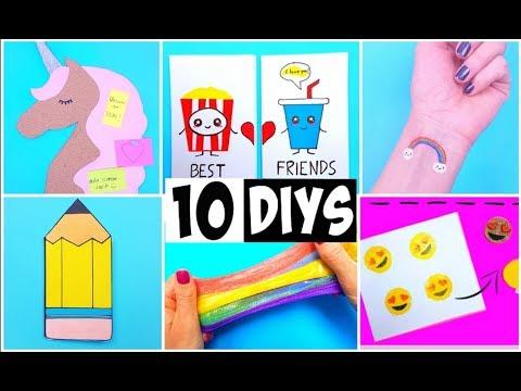 MAKING 10 AMAZING DIY School Supplies, BFF Gift Ideas, Room Decor & Temporary Tattoos COMPILATION!