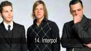 Las mejores bandas de Rock, Indie, Alternativo y Electro