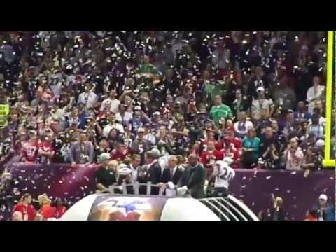 Super Bowl XLVII - Baltimore Ravens trophy presentation