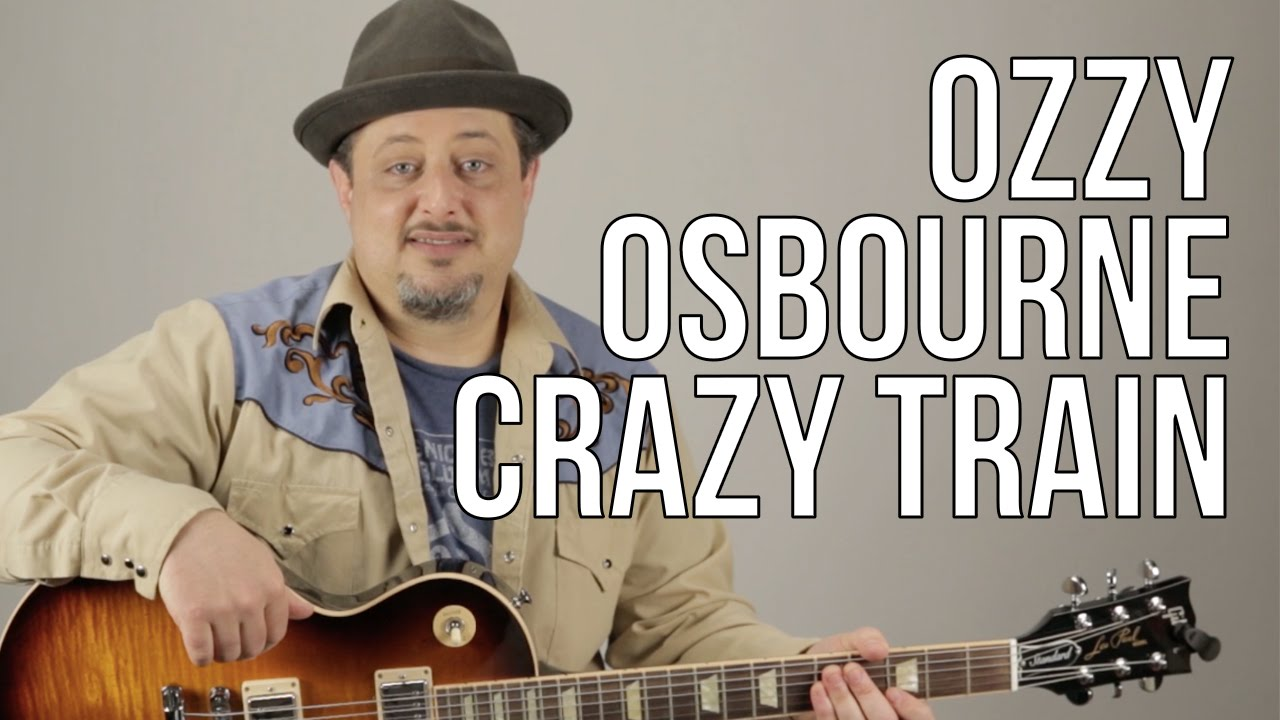 Crazy Train Guitar Lesson Ozzy Osbourne Opening Riff How To