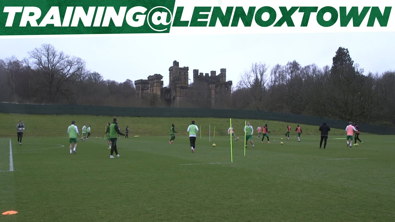 Celtic Training: John Kennedy leads his first session after taking charge on an interim basis