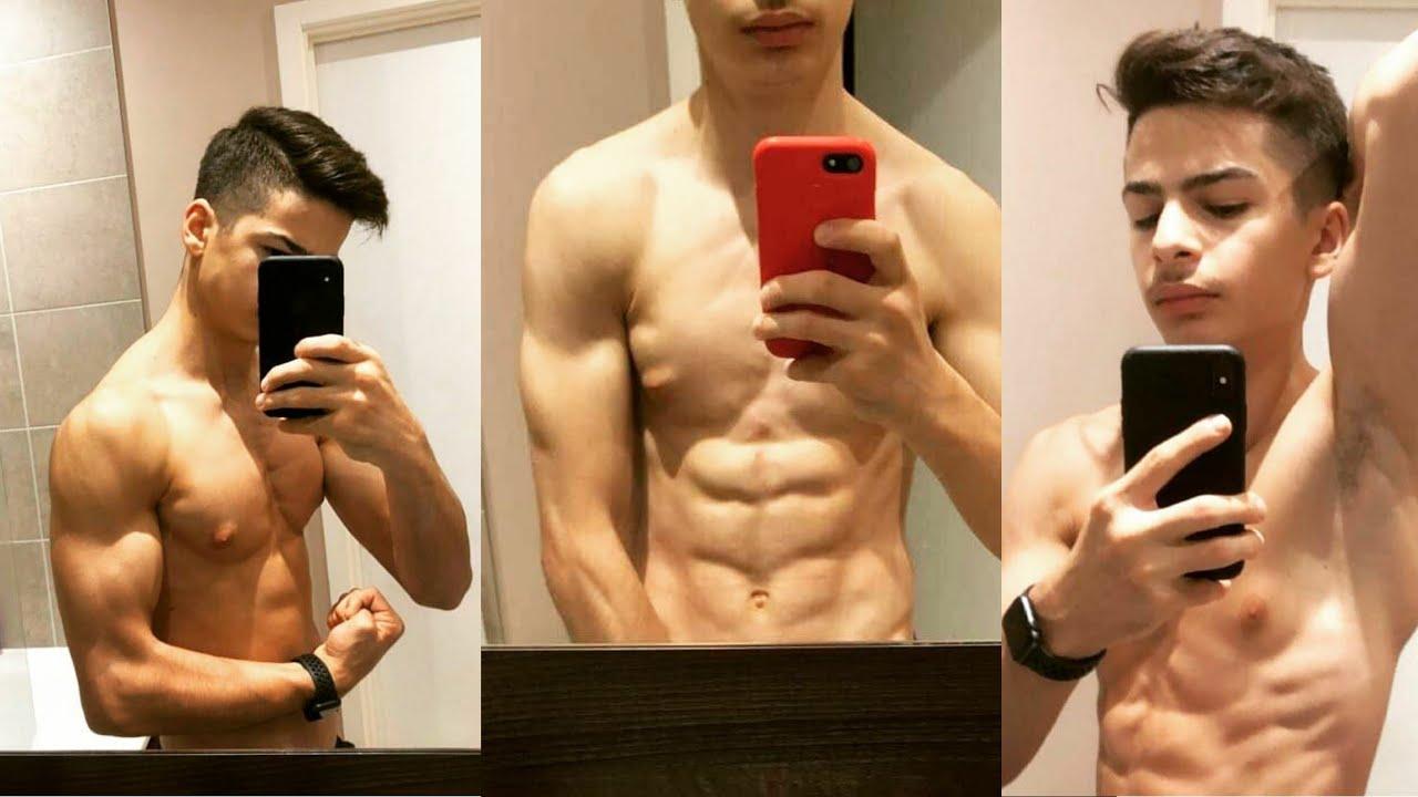Teen boy do Six Packs training | Hot Boys - YouTube