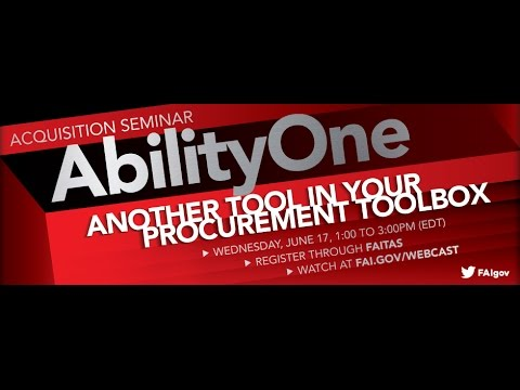 AbilityOne 2015: Another Tool in Your Procurement Toolbox