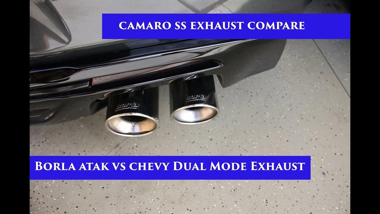 2017 camaro ss borla atak vs 2016 camaro ss dual mode exhaust npp