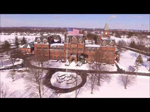 The Historic ST. PAUL'S SCHOOL of Garden City New York Blizzard of 2017 Phantom 3 Drone