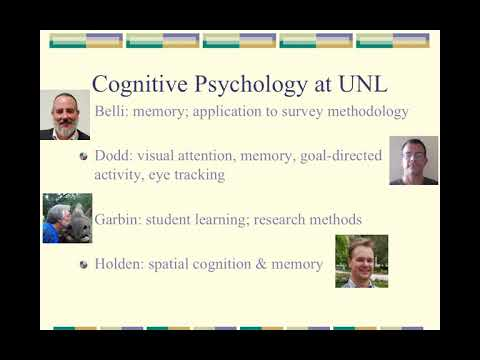 Areas of psychology Cognitive