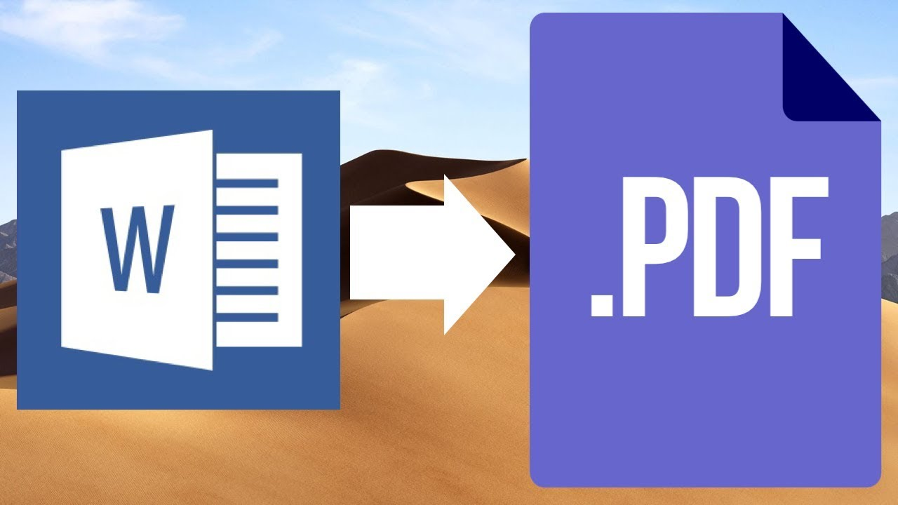 How to save Word file as PDF in Mac | MacBook Pro, iMac ...