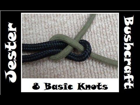 Bushcraft - Learning 8 Basic Knots