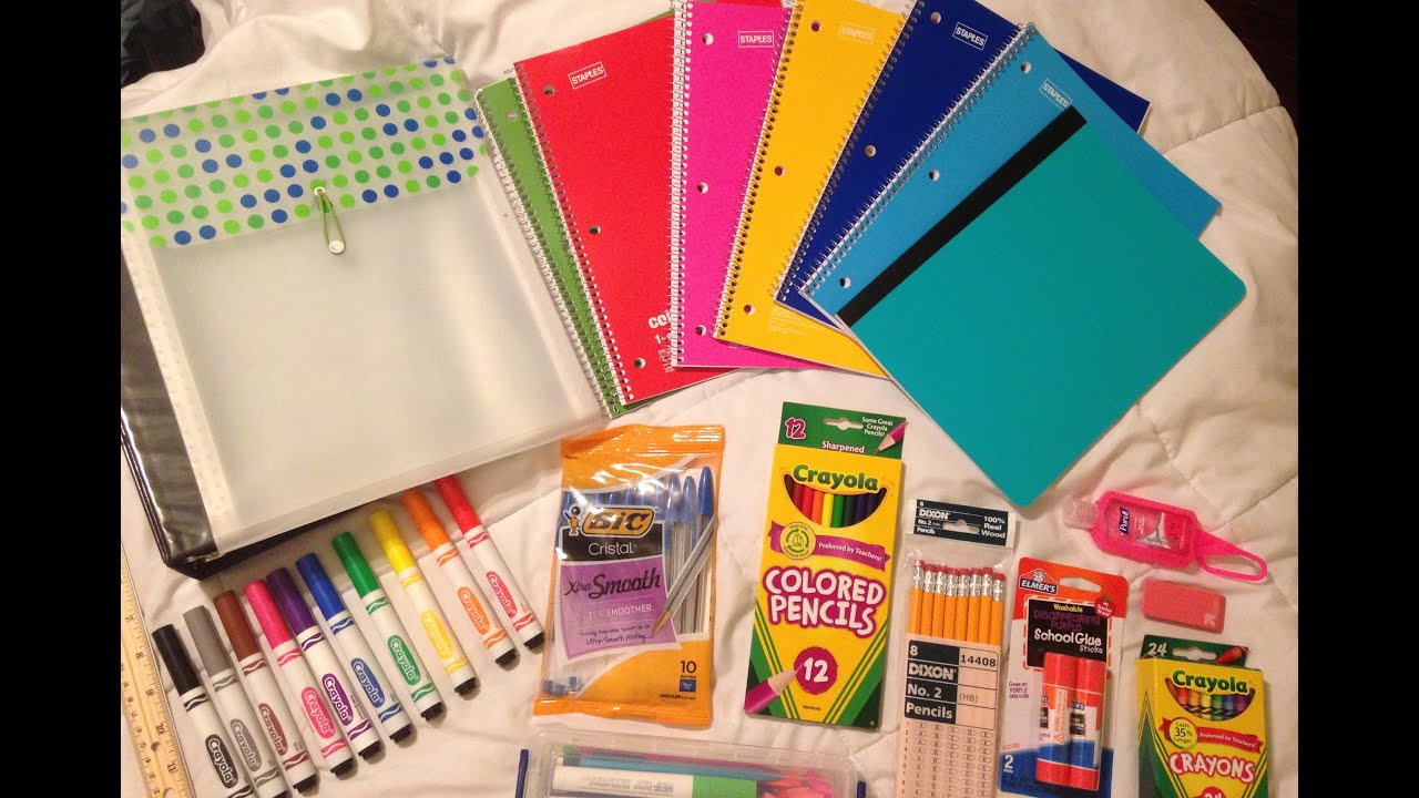 A Really Cool School Supplies Haul