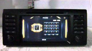 BMW SERIE 5 E39, X5 E53, 7 E38, Autoradio GPS Tactile Bluetooth