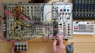 Live Jam #76 - 40 min Live set - Ambient / Techno - Eurorack, Korg volca sample, DIY sequencer
