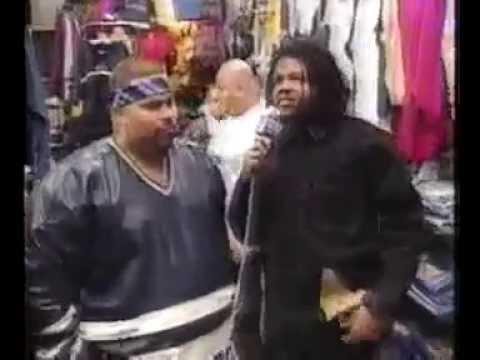 BIG PUN Rare footage at Fat Joe's Half-Time Clothing Store , Bronx, New York