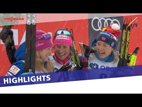 Marit Bjoergen comes from behind to take historic victory in Oslo-Holmenkollen 30 km | Highlights
