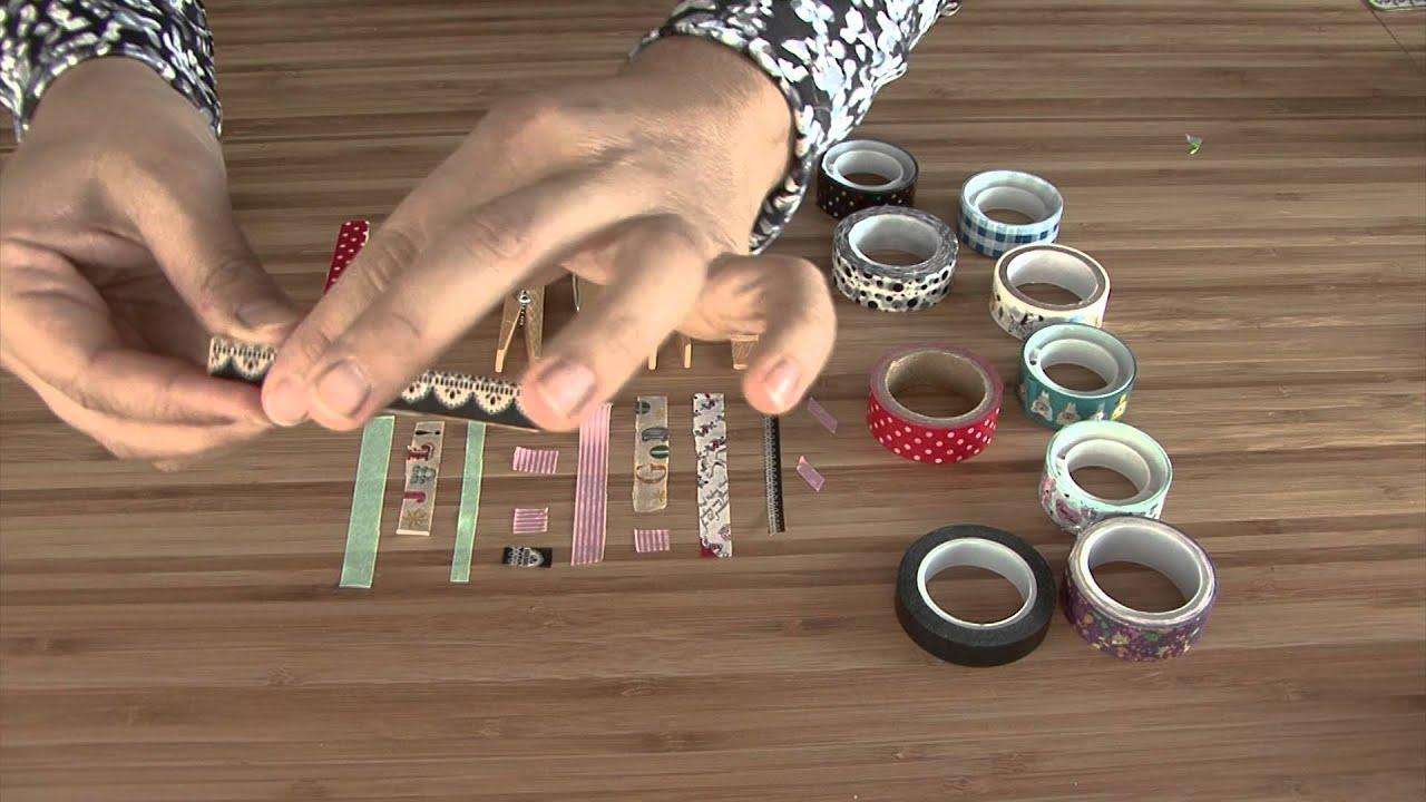 C mo decorar pinzas para la ropa youtube for Colgadores de ropa de pared