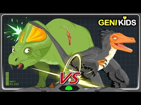 Battle #4 Fighting Dinosaurs Fossil Death Match | VELOCIRAPTOR VS PROTOCERATOPS  | Dinosaur World