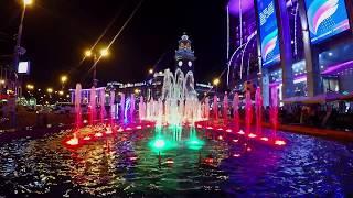 По яркой Москве - ночной город, огни, фонтаны, улицы!