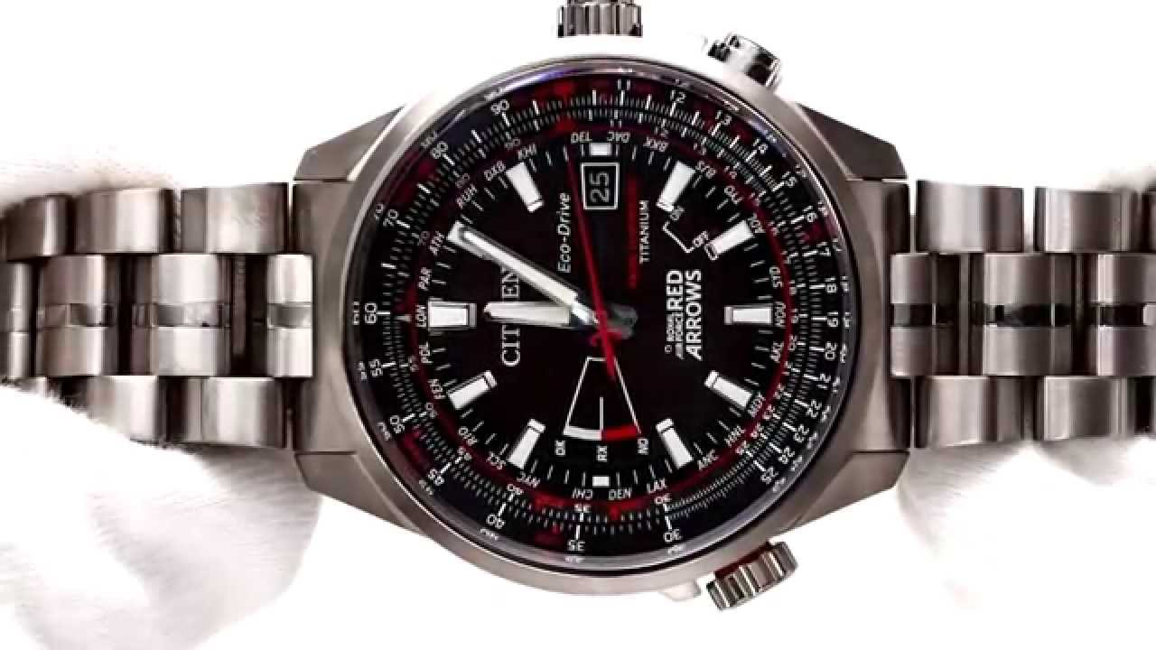 Hands On With The Men S Citizen Eco Drive Red Arrows Watch Cb0149 53e Youtube