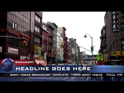 Sony Vegas Templates Slideshow : 'News broadcast'