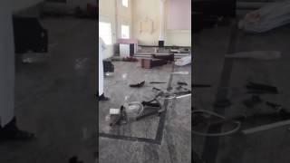 India - Chiesa devastata a Hyderabad