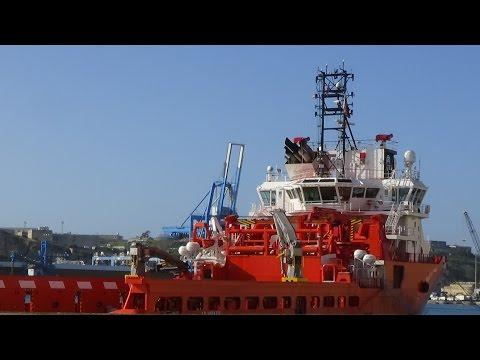 ⚓ shipspotting Valletta/Malta: AHTS A. H. VARAZZE IMO9665566