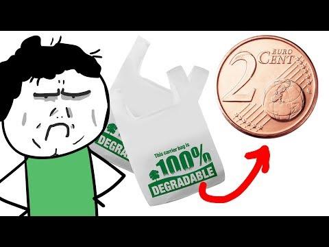 SACCHETTI BIODEGRADABILI A PAGAMENTO! - I supermercati ci fregano i soldi!!!!!