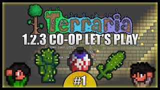 Temples, Caves & Eyeballs! Playing With Death! || Terraria Co-Op Survival [Episode 1]