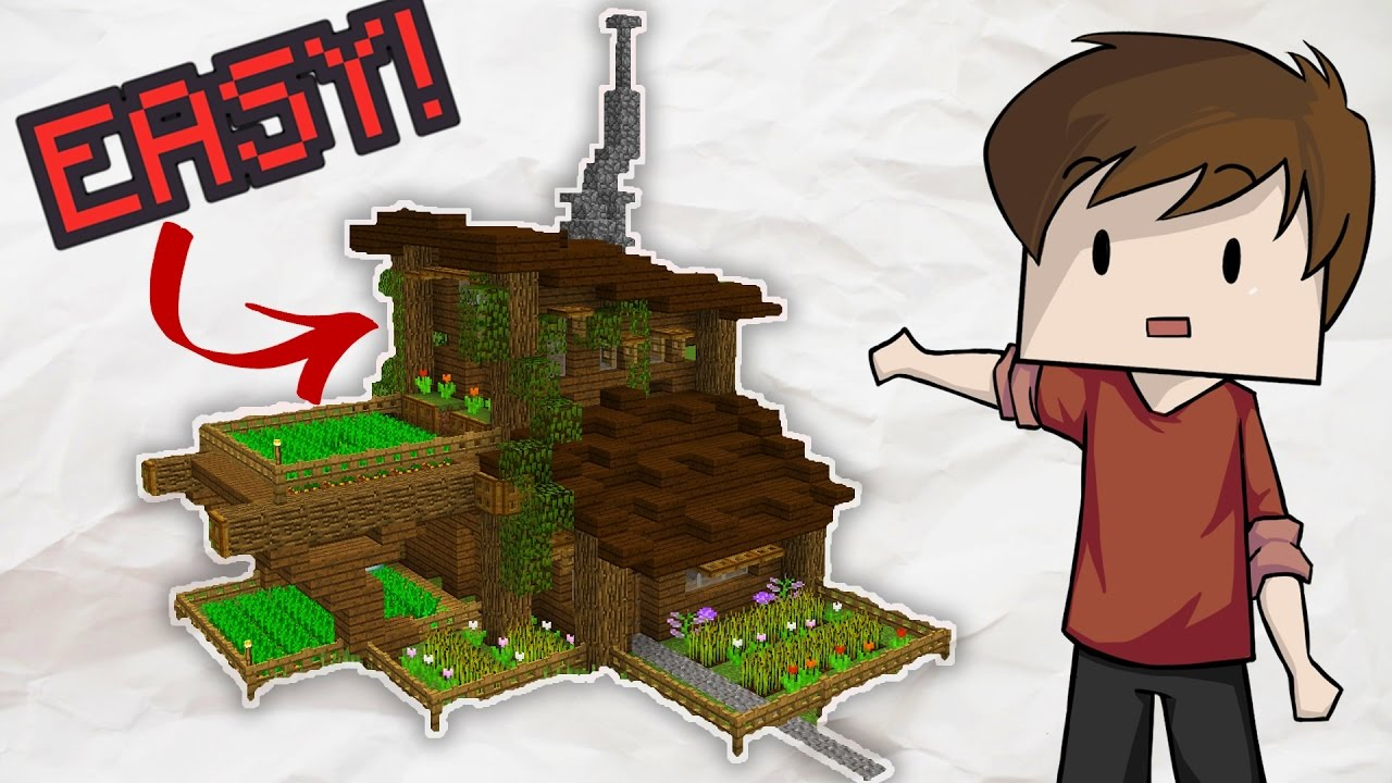 Easy Minecraft Garden House Tutorial Youtube