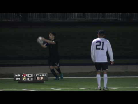 Game of the Week Boys High School Soccer MacArthur vs Irving 3 3 17