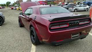 2018 Octane Red Dodge Challenger SRT Demon walk around at Woodward Dream Cruise