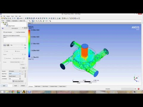 Fluid Flow CFX Analysis of Ansys Workbench 16
